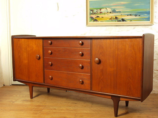 Volnay solid Afrormosia sideboard by Younger Ltd.