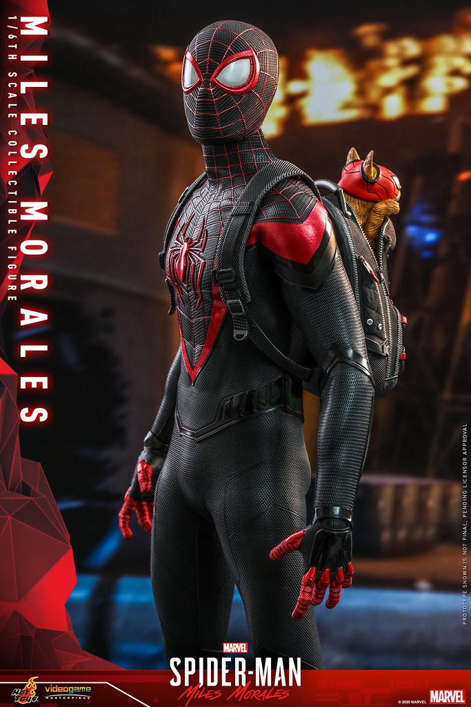 Hot Toys《漫威蜘蛛人:邁爾斯摩拉斯》邁爾斯·摩拉斯 1/6比例人偶 還有超可愛的....蜘蛛貓?!