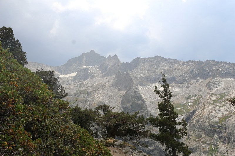 We heard thunder and saw rain back to the east near Eagle Scout Peak, and hoped it would miss us