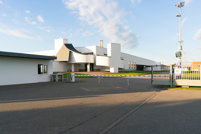 Security checkpoint and the inner campus of Vitra museum