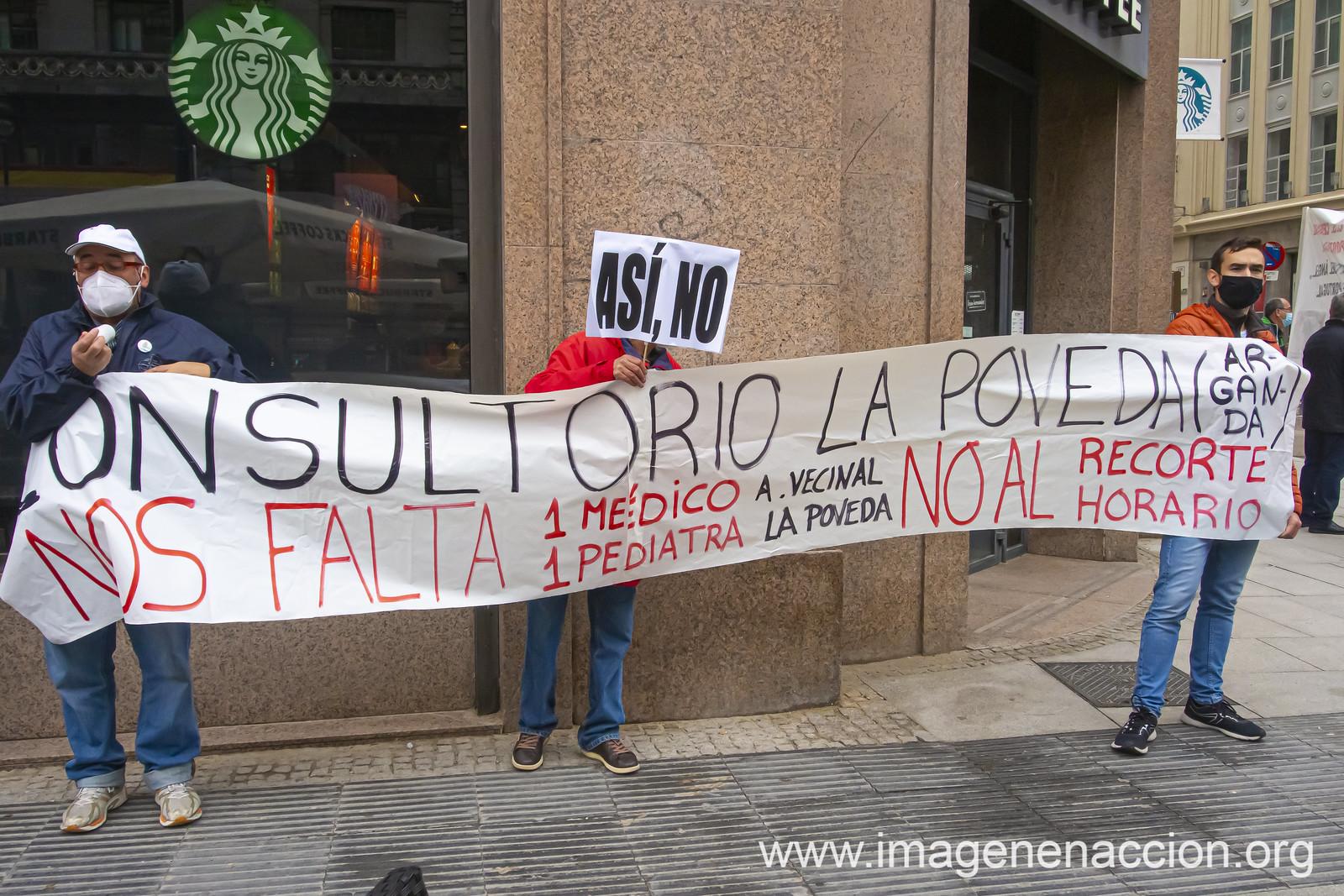 MANIFESTACIÓN EN MADRID PARA RECLAMAR MÁS PERSONAL Y MEDIOS PARA LA SANIDAD PÚBLICA