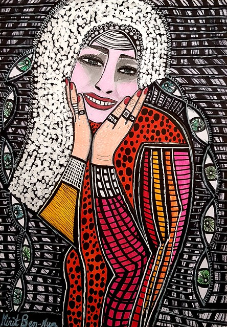 אומנים ישראלים רישום ציור מירית בן נון ציירת מודרני עכשווי
