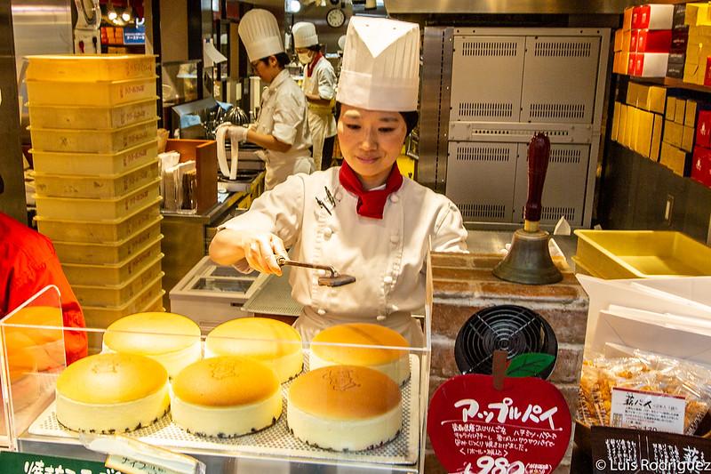 Tartas cotton cheesecake de Rikuro Ojisan recién salidas del horno