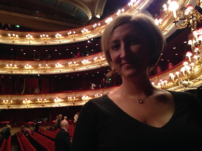 Me at the Royal Opera House for the Nutcracker in January 2018