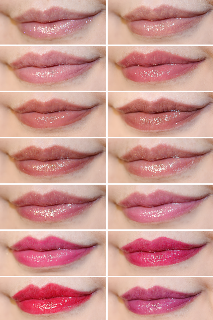 mary kay unlimited lip gloss collage