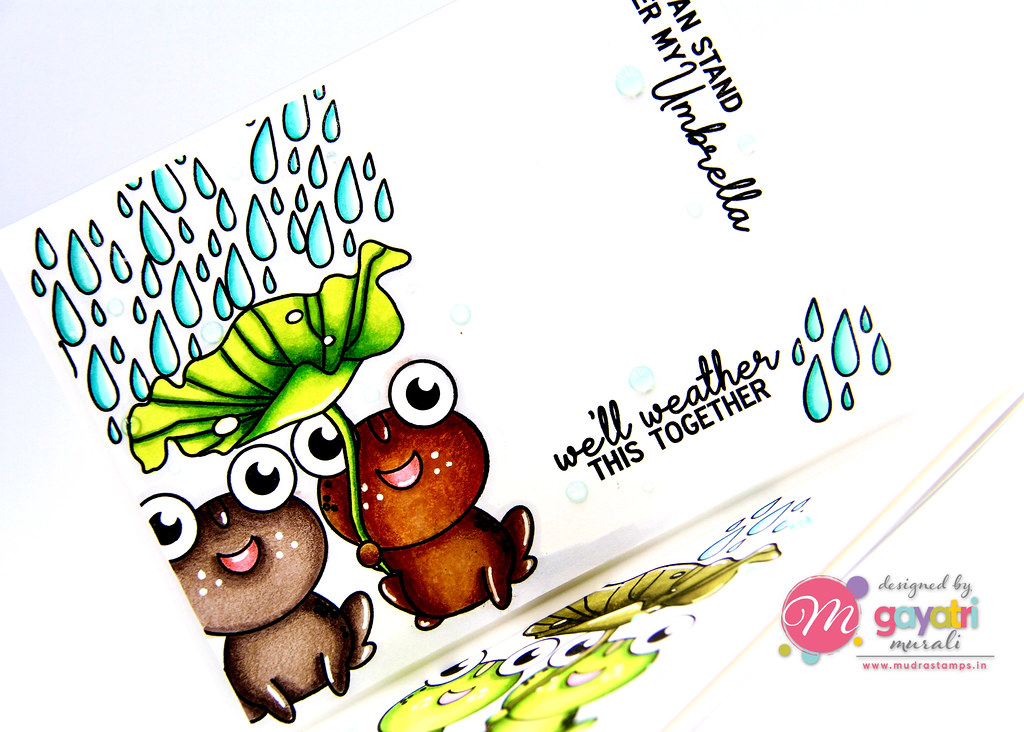 Frog card #1 closeup
