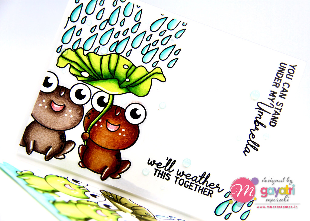 Frog card #1 closeup1