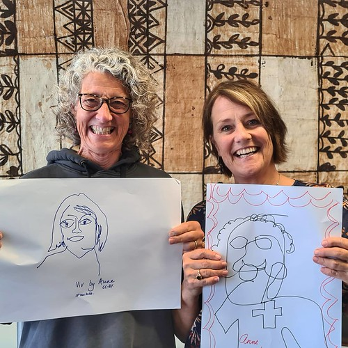 We're probably never going to win any awards for art but we had fun @vivhnz #mahi | by easegill