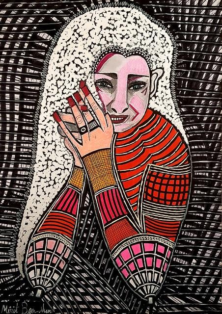 אומנים ישראלים ציורים רישומים מירית בן נון ציירת מודרני עכשווי