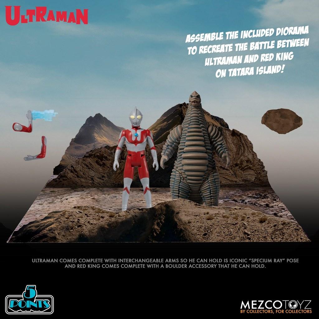 MEZCO TOYZ 5 POINTS系列《超人力霸王》「超人力霸王&紅王」套裝組!經典對決再現