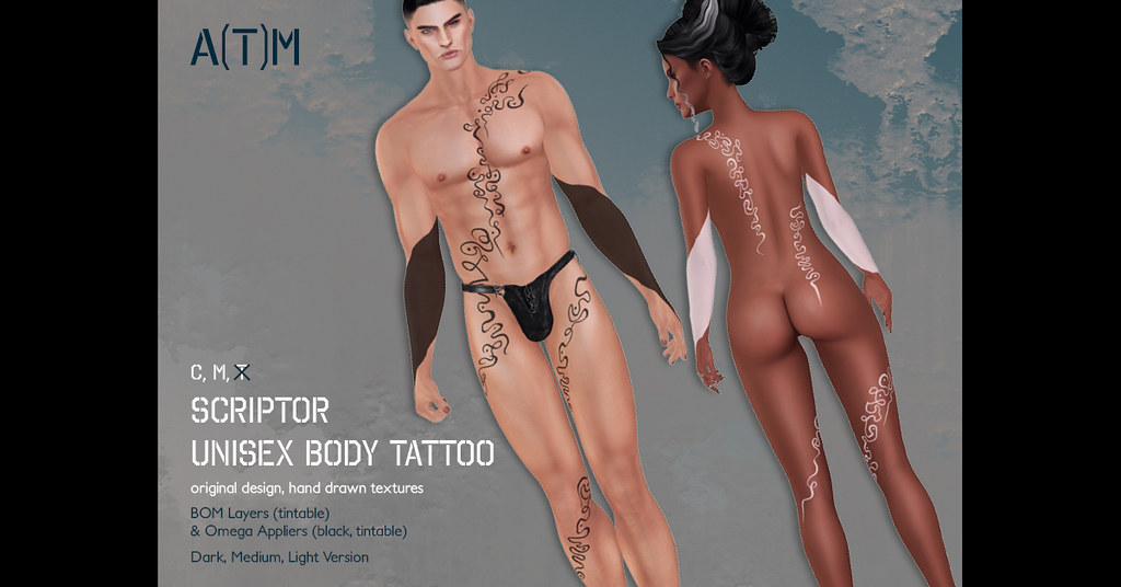 A(T)M – Scriptor Body Tattoo