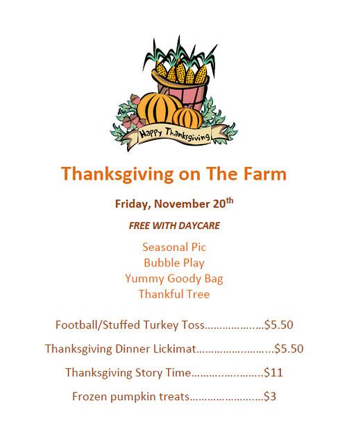 Thanksgiving on The Farm 2020