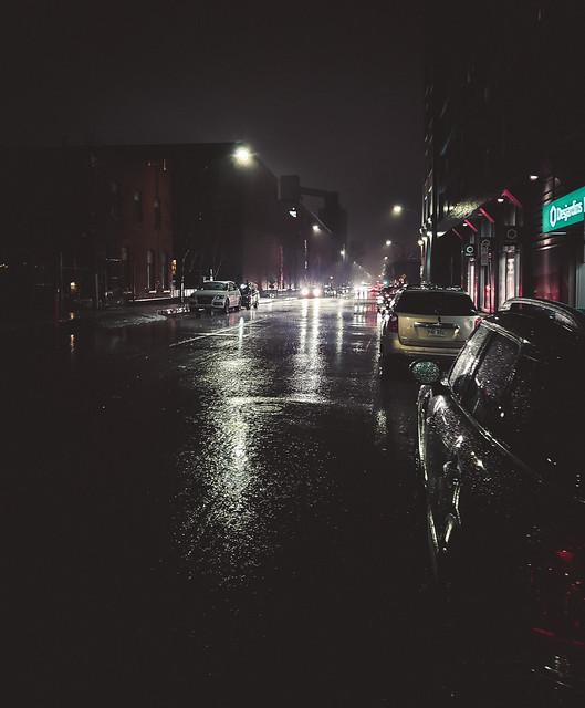 Nightlit Street