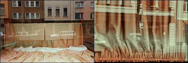 cloth behind glass (Manfred Geyer / Ute Kluge)