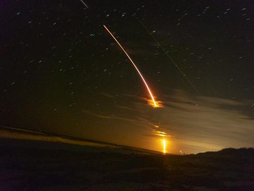 spacex falcon9 crewdragon nasa rocketlaunch nightlaunch crew1 marineland florida flaglercounty beach