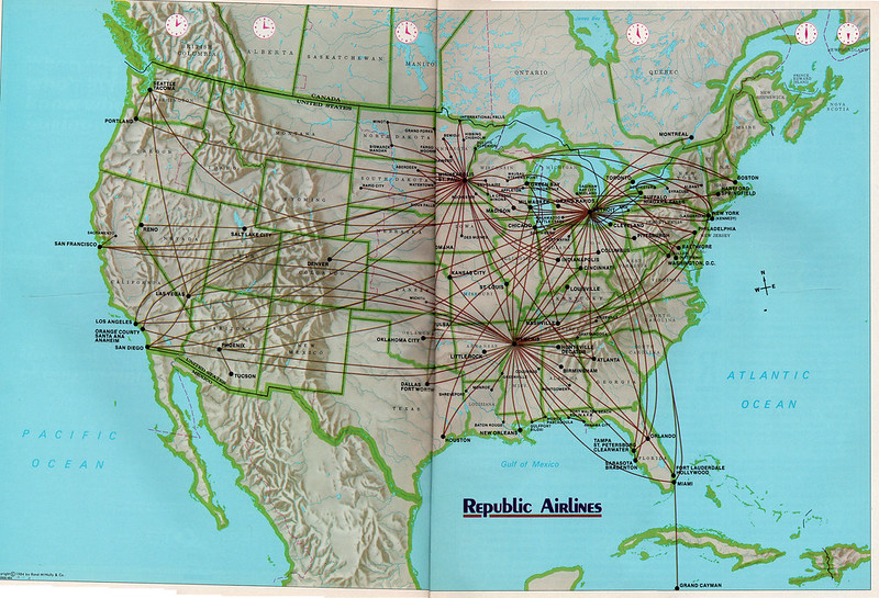 Republic route map, 1985