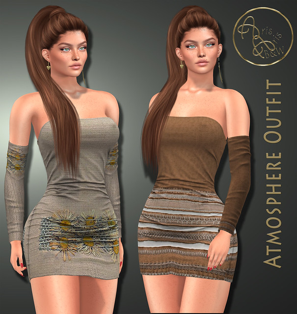 70%Off PROMOTION***ArisArisB&W~Atmosphere Outfit - HUD