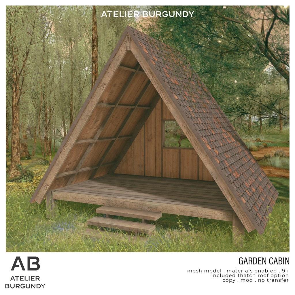 Atelier Burgundy . Garden Cabin