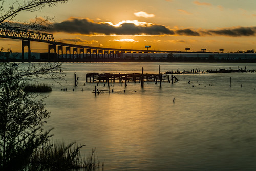 sunset statenisland arthurkill longexposure sigma d800 70200mm outerbridgecrossing nd30