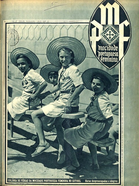 Capa revista antiga | vintage magazine cover | Portugal 1930s
