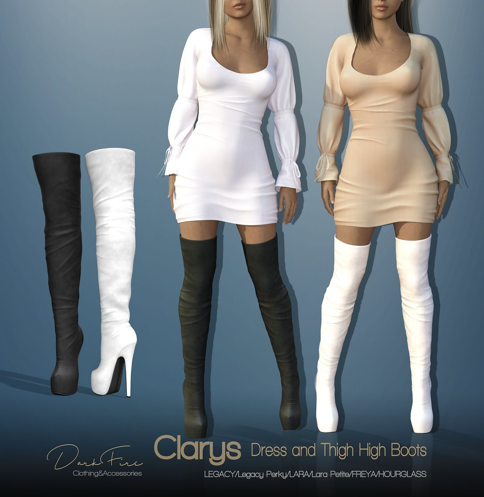 Clarys Dress and Thigh High Boots