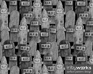 RIP Tombstones at Night by Trilby Works | by TrilbyWorks