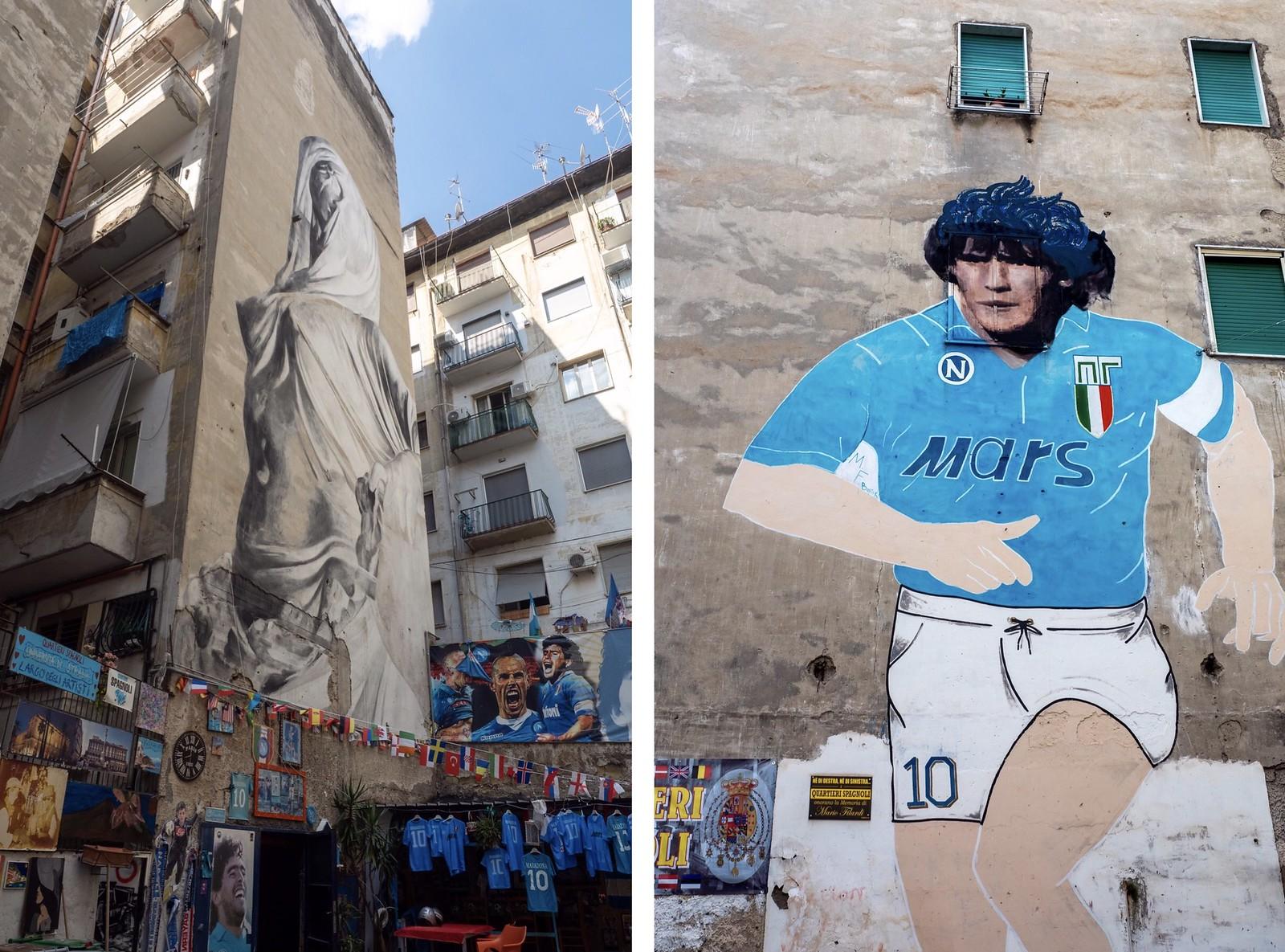Napoli Maradona murals