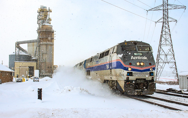 Lakeshore Limited In The Lake Effect