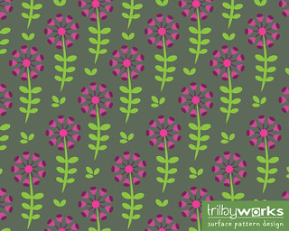 Purple and Pink Cup Flowers on a Dark Background by Trilby Works | by TrilbyWorks
