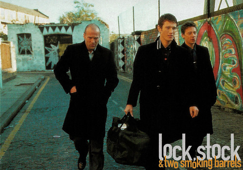 Jason Statham, Nick Moran, and Dexter Fletcher in Lock, Stock and Two Smoking Barrels (1998)
