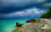 Shipwreck on Bimini Island, Bahamas