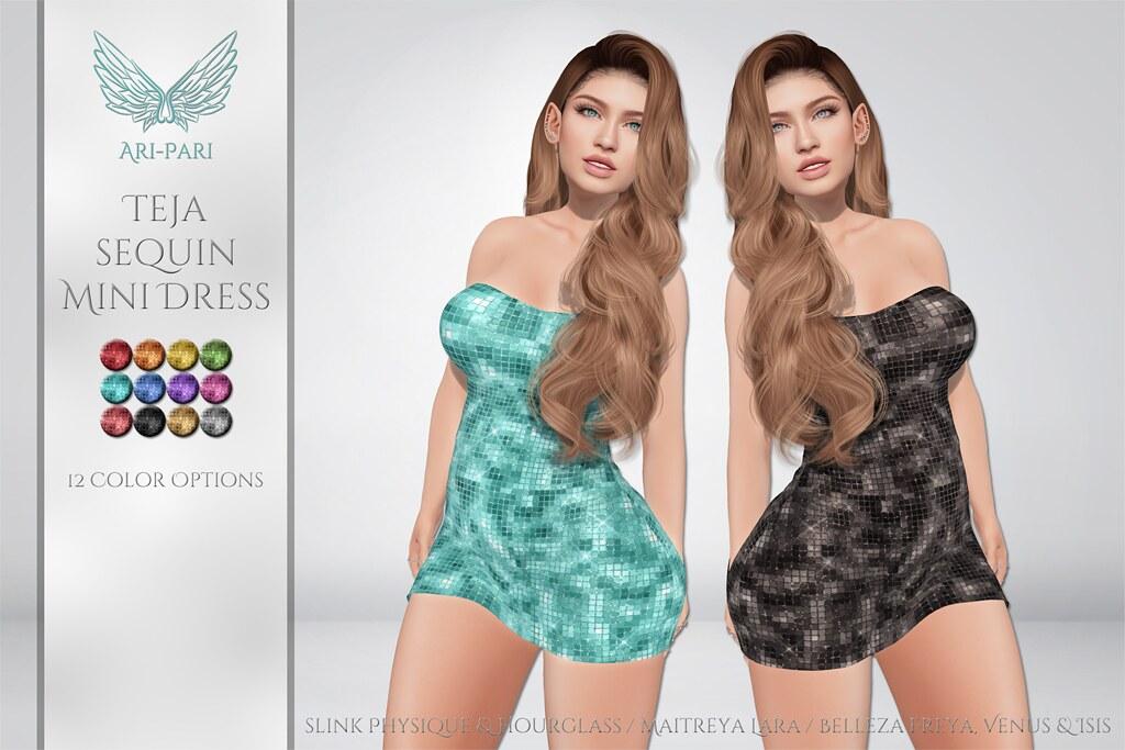 [Ari-Pari] Teja Sequin Mini Dress