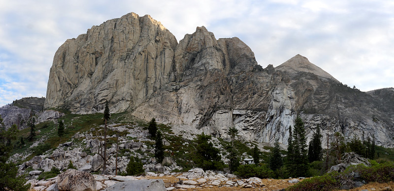 Angel Wings from the High Sierra Trail, with Cherubim Dome on the right