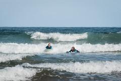 Surfing at Sopelana Beach