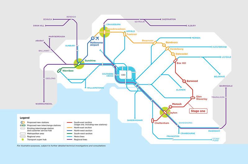 Suburban Rail Loop - route map as of 2020