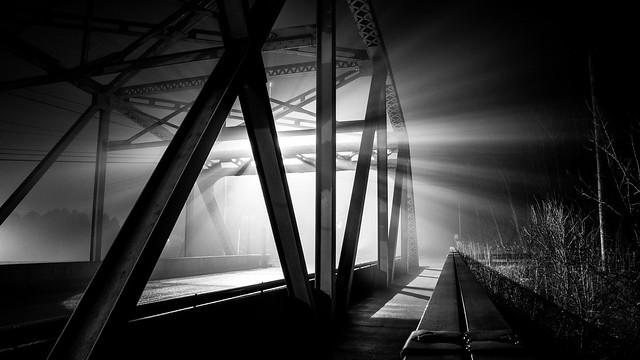 Foggy Night on the Bridge