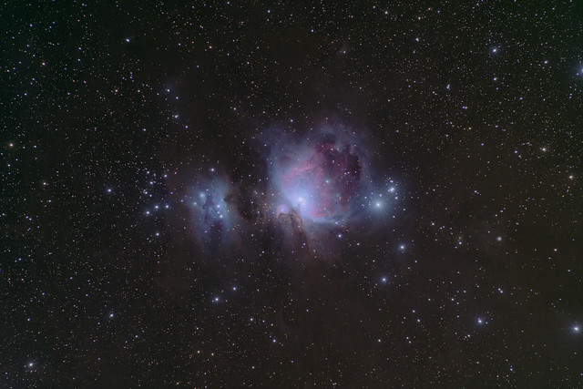The Running Man and Orion Nebulas