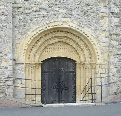 Door of St Nicholas's Church, New Romney