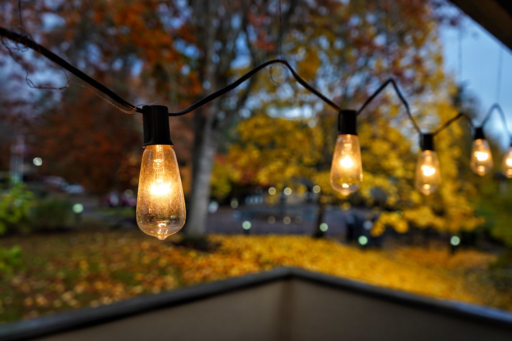 Patio.. fall.. lights