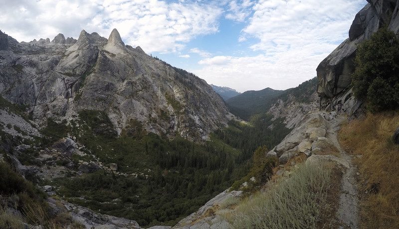 Awesome views on the High Sierra Trail just west of Valhalla