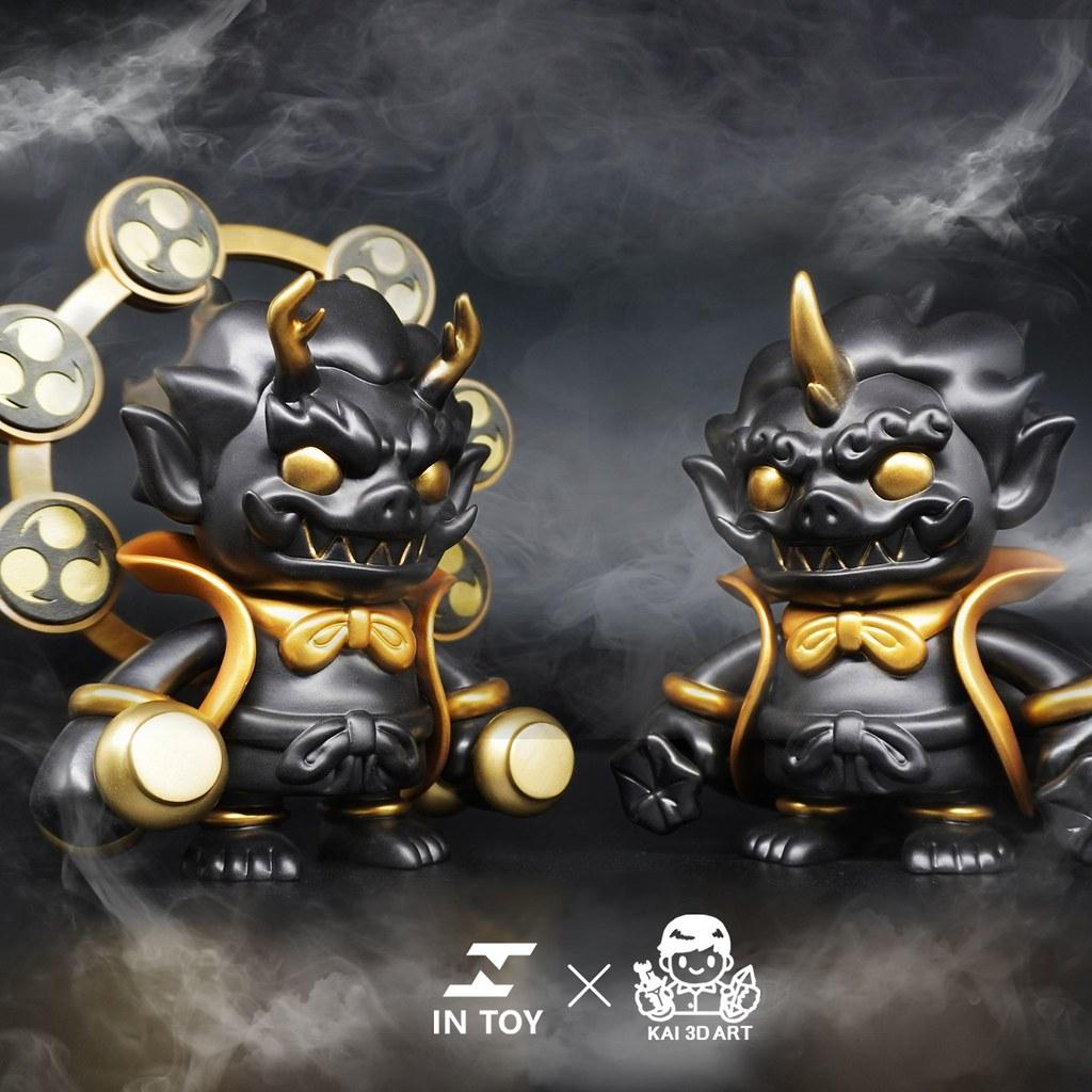 IN Toy × KAI 3D Art Studio 神像系列首波新作「風神」「雷神」黑金配色將於【TTF2020】限定登場!