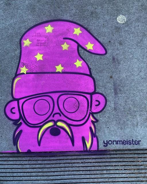 Wizard #streetart by @yonmeister