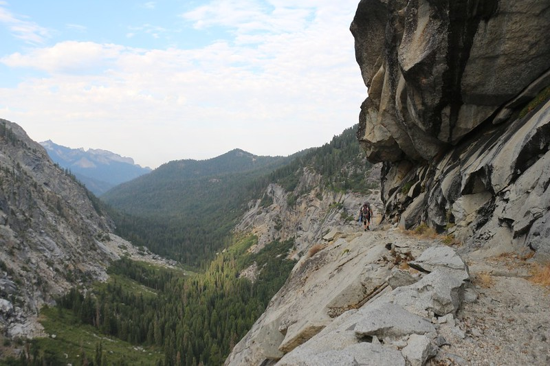 The builders of the High Sierra Trail really had to blast away at the granite walls - quite impressive!
