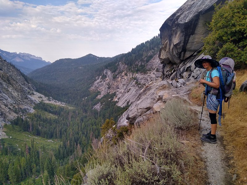 The High Sierra Trail stays high above the floor of the Middle Fork Kaweah River Valley