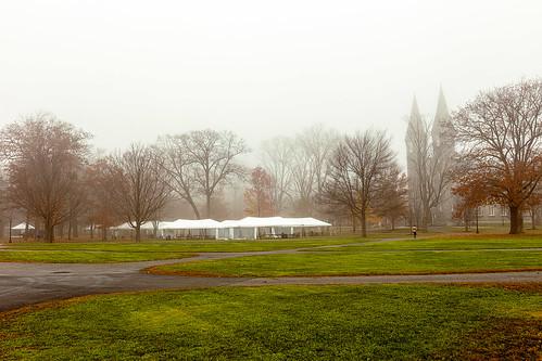 fog maine brunswick bowdoin college mainquad