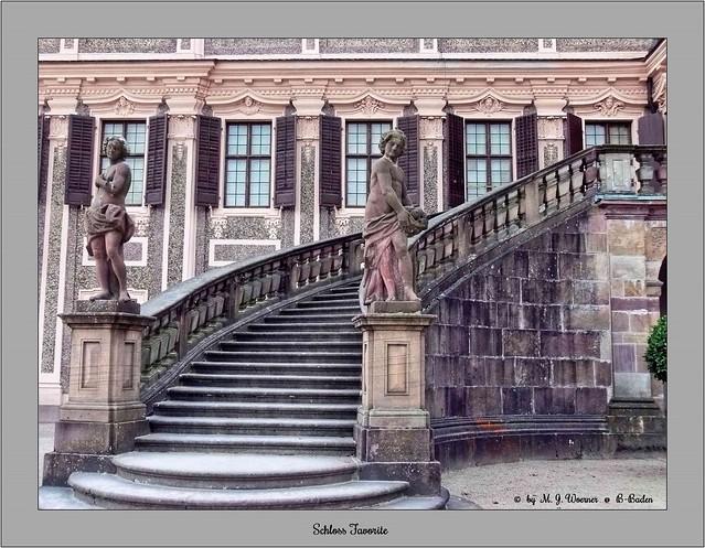Schloss Favorite - Outside Staircase 03