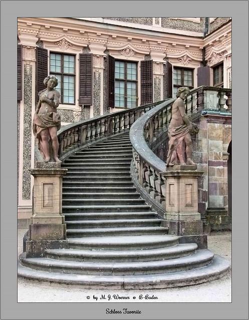 Schloss Favorite - Outside Staircase 01
