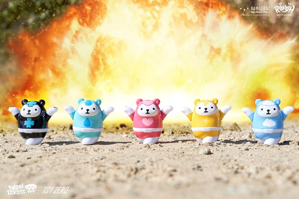 Toyzeroplus R.Y.U.H.系列「白白戰隊」將於【TTF2020】降臨!保護世界不受白白巨獸侵襲
