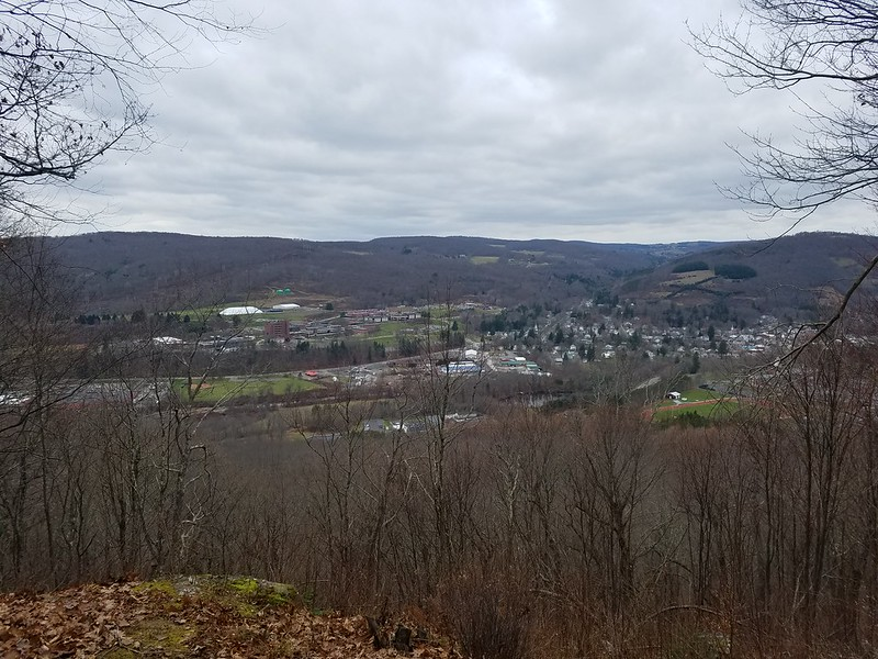 Delhi, NY as seen from the Gribley Trail above Delaware Academy