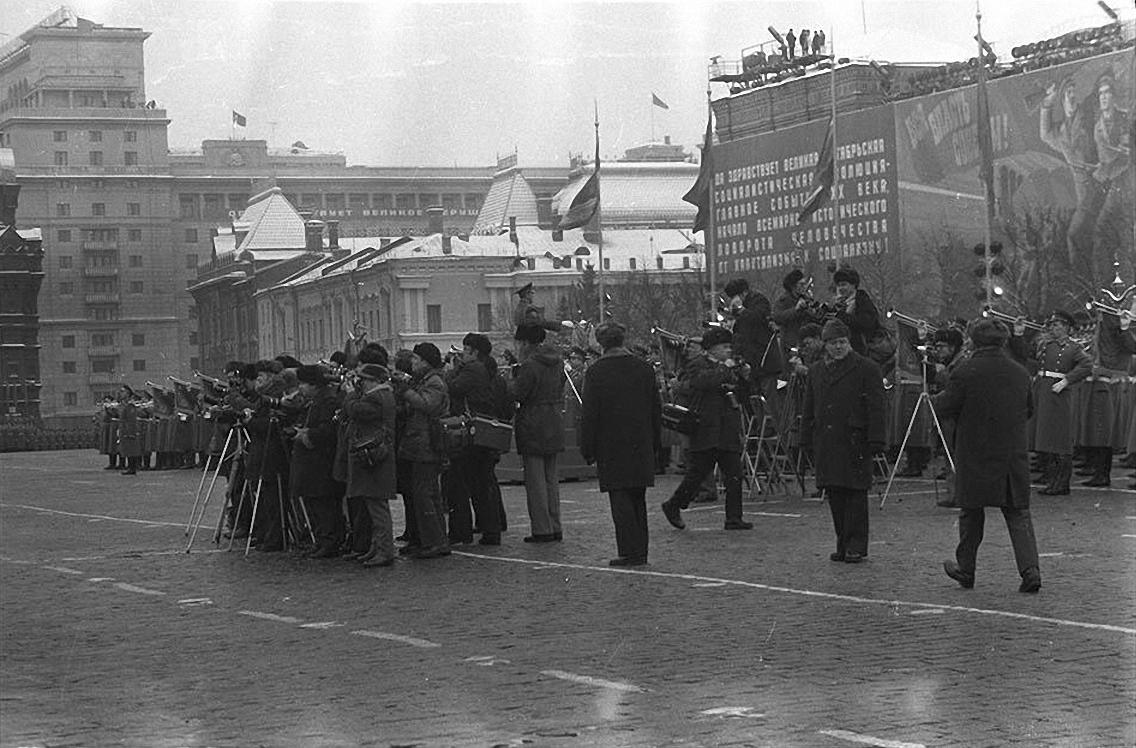 1977. Красная площадь. 7 ноября